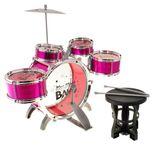 Dětské bicí nástroje 5 dílny + židle