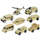 Vojenský ťahač s vozidlami