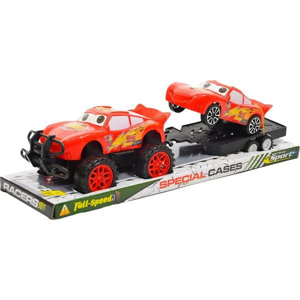 Auto Blesk McQueen a přívěsný vozík s autem