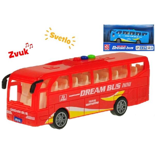Autobus Dream Bus se světlem a zvukem - červená
