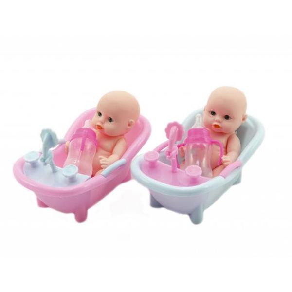 Panenka - miminko ve vaničce - modrá