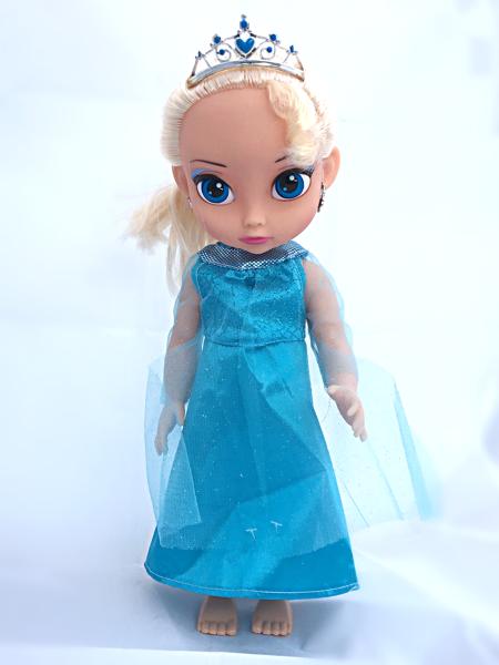 Panenka zimní královna 38 cm - modré