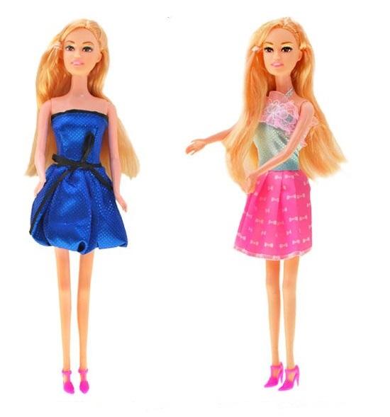 Panenka s dlouhými blond vlasy - modré