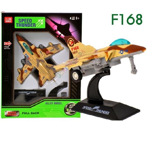Bojové letadlo se světelnými a zvukovými efekty - F16