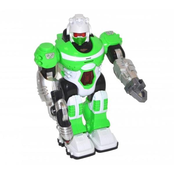 Chodící robot na baterie se světlem a zvukem - červená