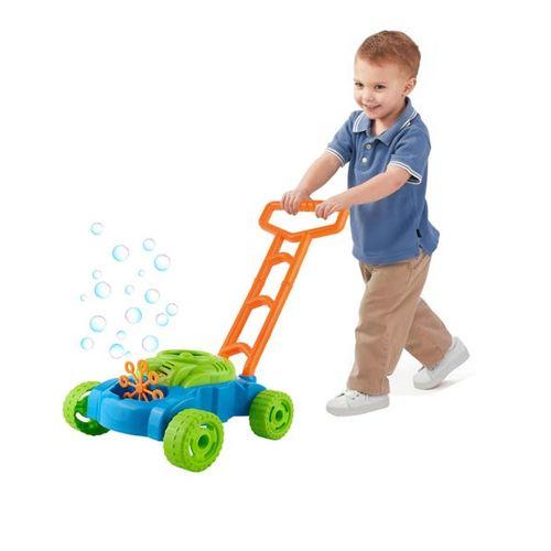 Dětská sekačka na trávu s bublifukem