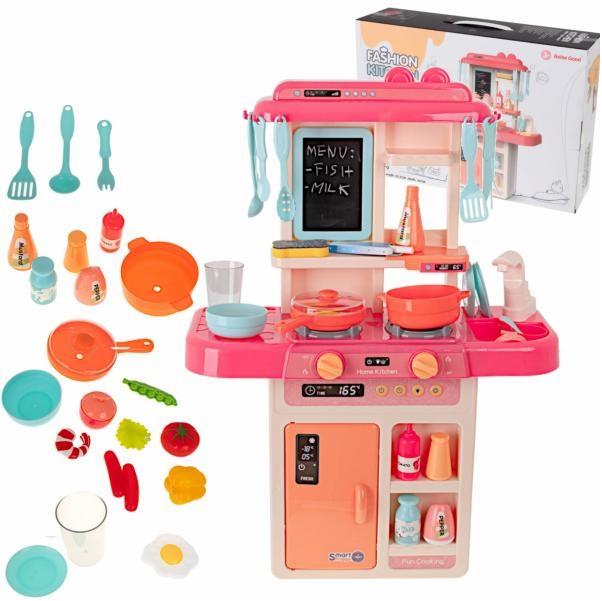 Dětská kuchyňka pro děti s tekoucí vodou - růžová