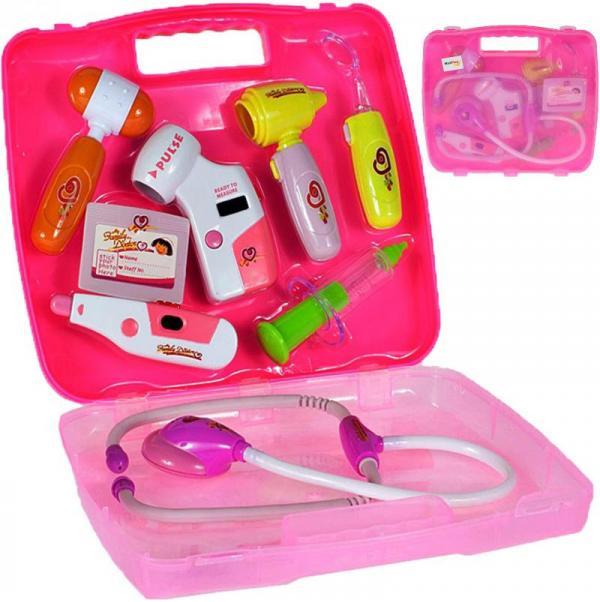 Dětská lékařská souprava růžová