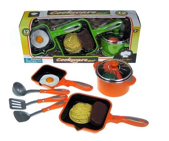 Dětská souprava kuchyňského nádobí - oranžová