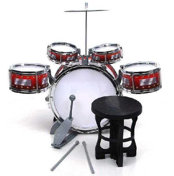 Dětské bicí nástroje 5 dílny se židlí
