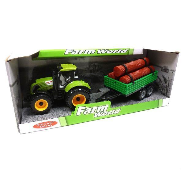 Detský farmársky traktor s vlečkou