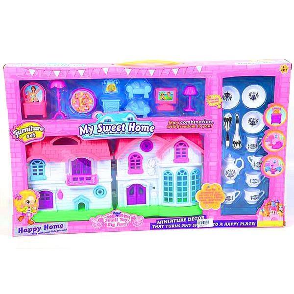 Domeček pro panenky s příslušenstvím