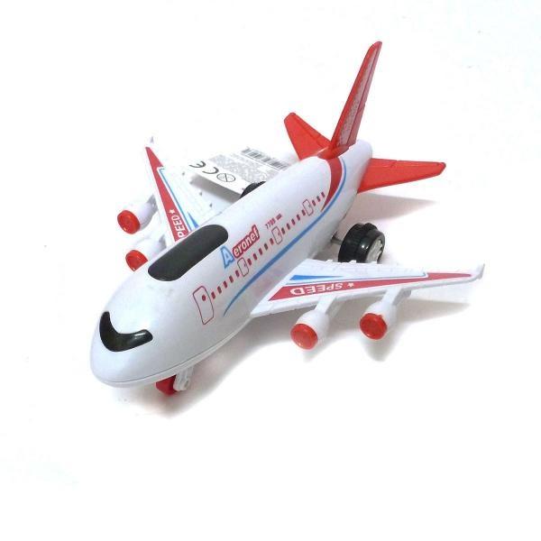 Dopravní letadlo světlo a zvuk - červená