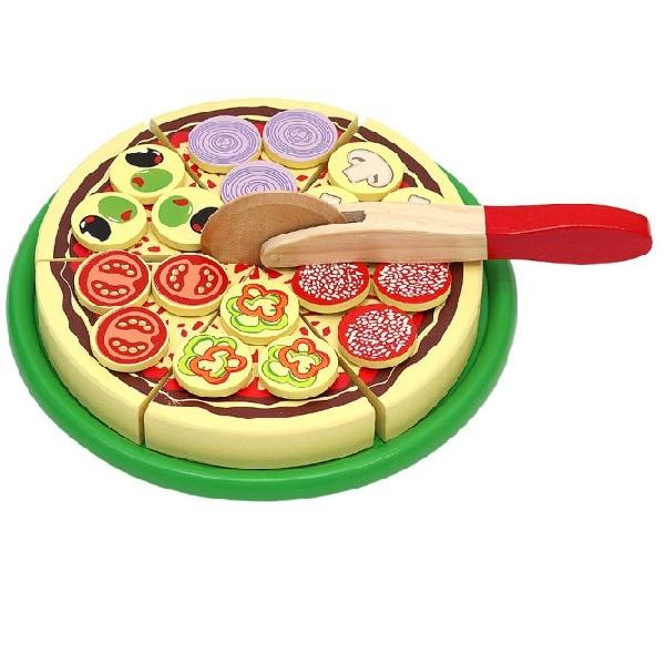 Dřevěná pizza na krájení