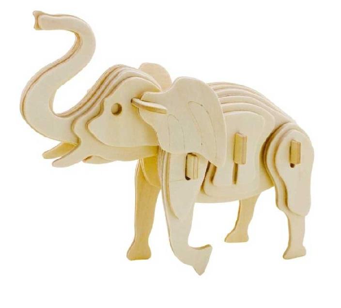 Dřevěné 3D puzzle - divoká zvířata - lev