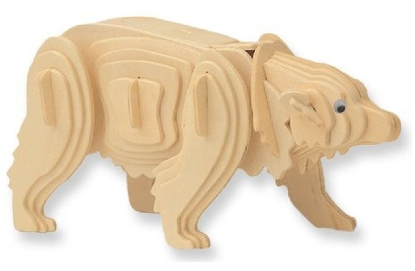 Dřevěné 3D puzzle - zvířecí skládačka - krokodýl