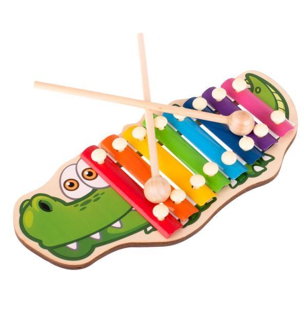Dřevěné cimbálky pro děti krokodýl