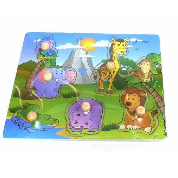Dřevěné puzzle zvířátka z džungle