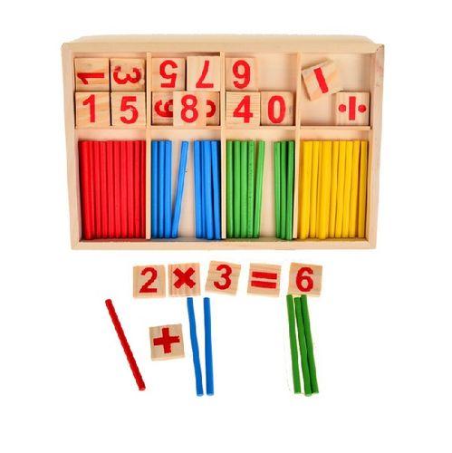 Dřevěné vzdělávací počítadlo s hůlkami