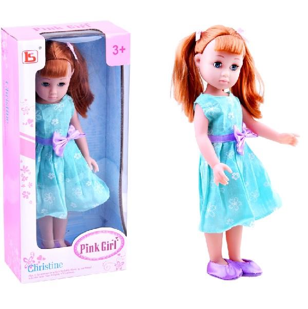 Elegantní panenka v jarních šatech - růžové