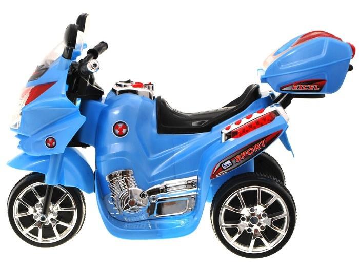 Elektrická sportovní motorka modrá