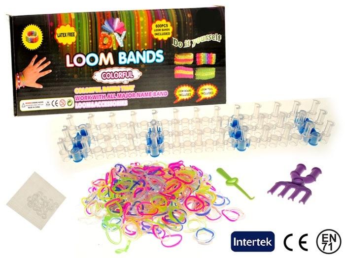 Barevné gumičky Loom Bands 600 ks