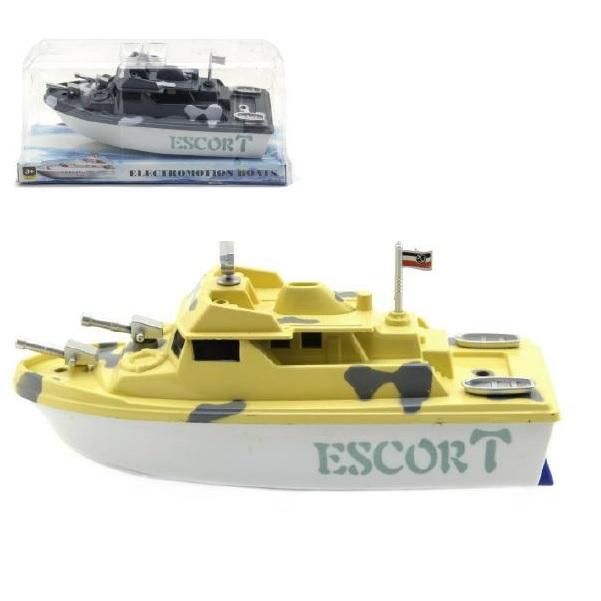 Hlídkový člun na baterie - bílá