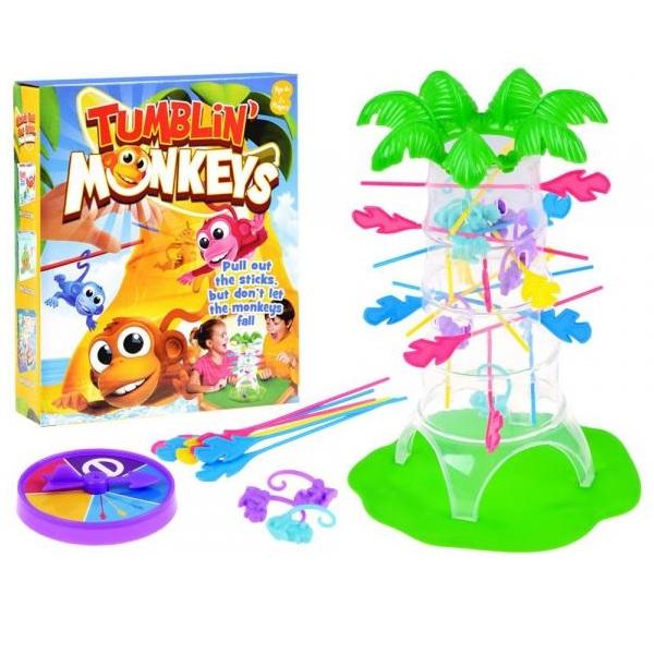 Hra padající barevné opičky