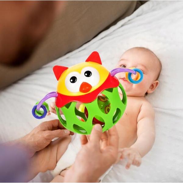 Chrastítko - měkký gumový míč zvířátko