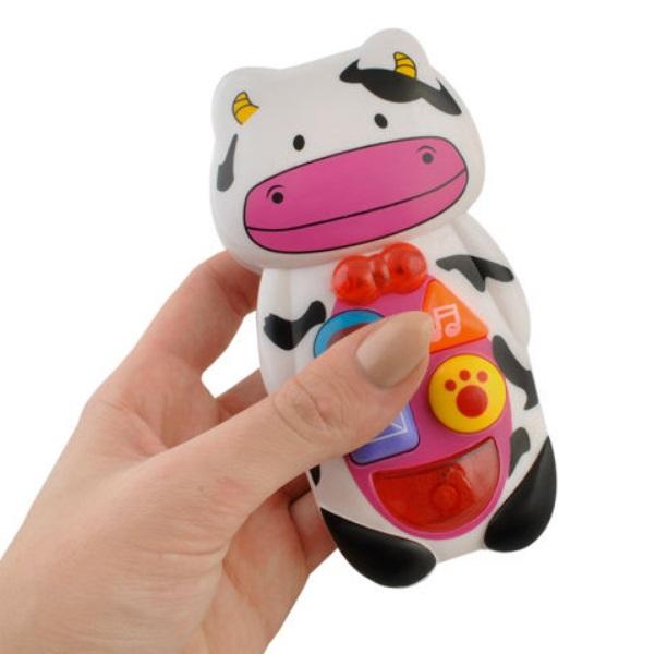 Interaktivní mobilní telefon - kravička