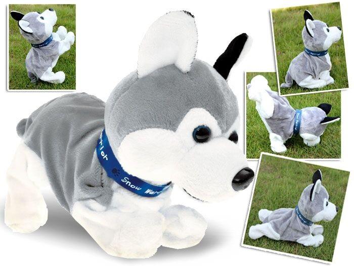 Interaktivní plyšový pes Husky