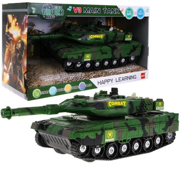 Interaktivní tank se světlem a zvukem