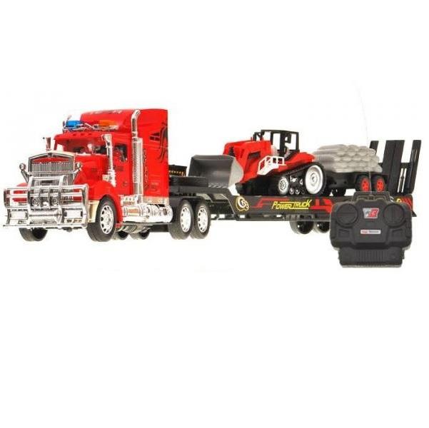 Kamion R/C s návěsem a nakladačem