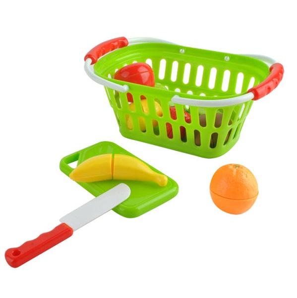 Košík s ovocem na řezání