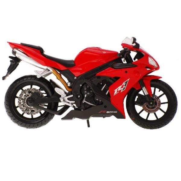 Kovová závodní motorka - bílá