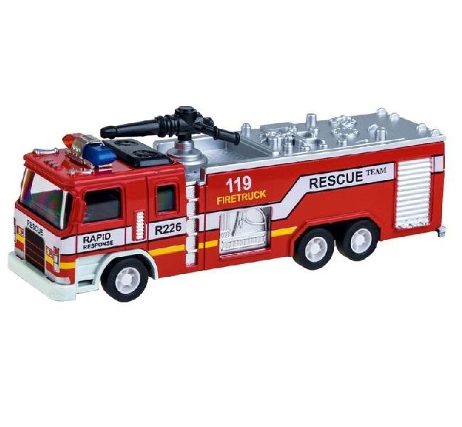 Kovové požárnické auto se sirénou