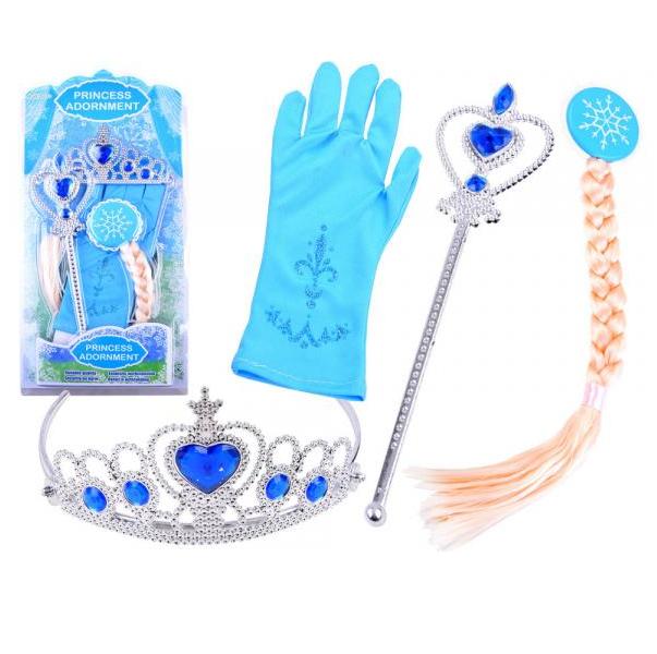 Kouzelná sada malé princezny s copem - modrá