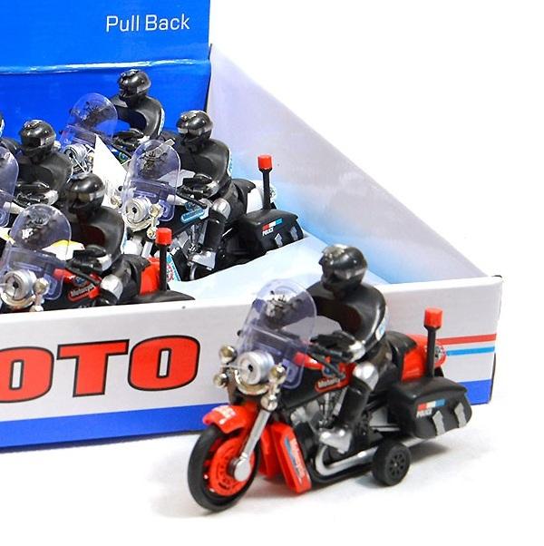 Motorka s jezdcem - červená
