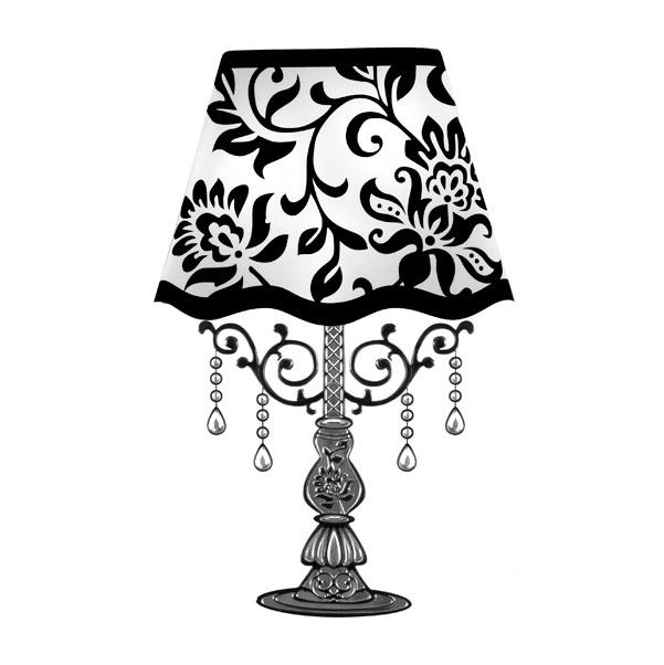 Nálepka na zeď s LED Lampa