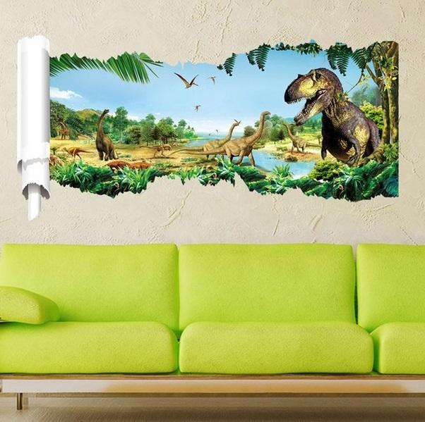 Nálepky na zeď Dinosauři