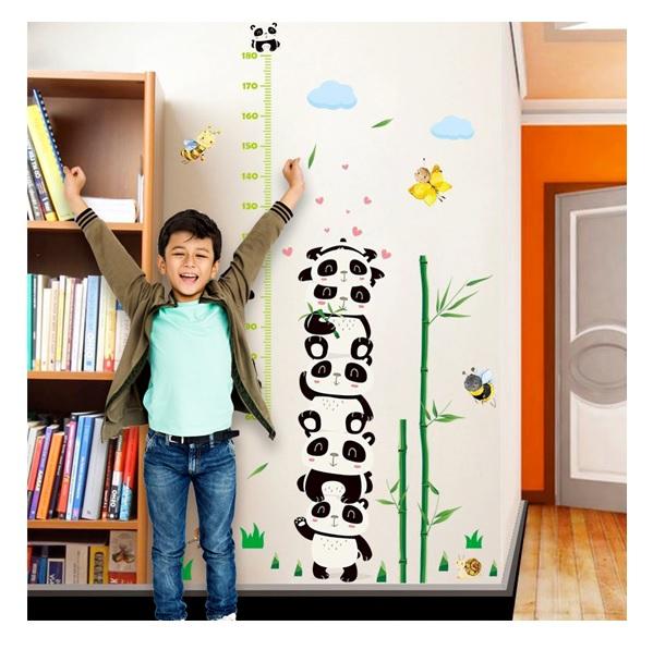 Nálepky na stěnu - metr panda