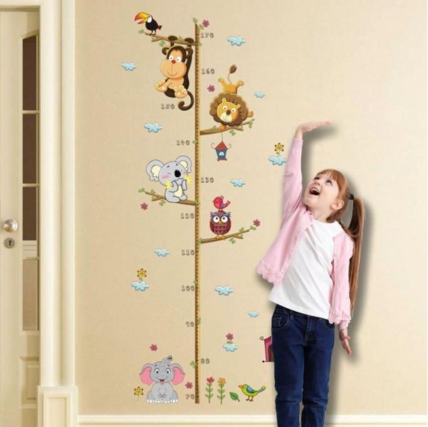 Nálepky na stěnu - metr se zvířátky