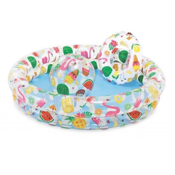 Ovocná souprava dětský bazén, plovací kolo a míč INTEX 59460