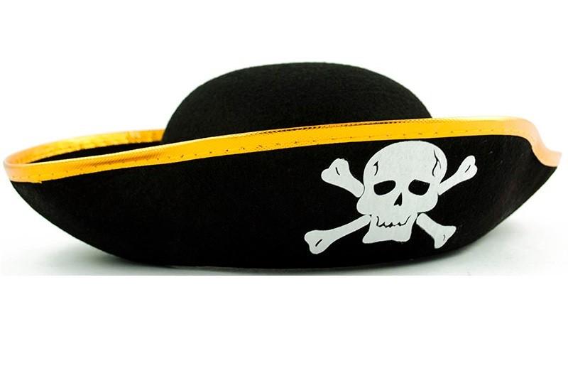 Pirátský klobouk - zlatý 99beb2d9ec