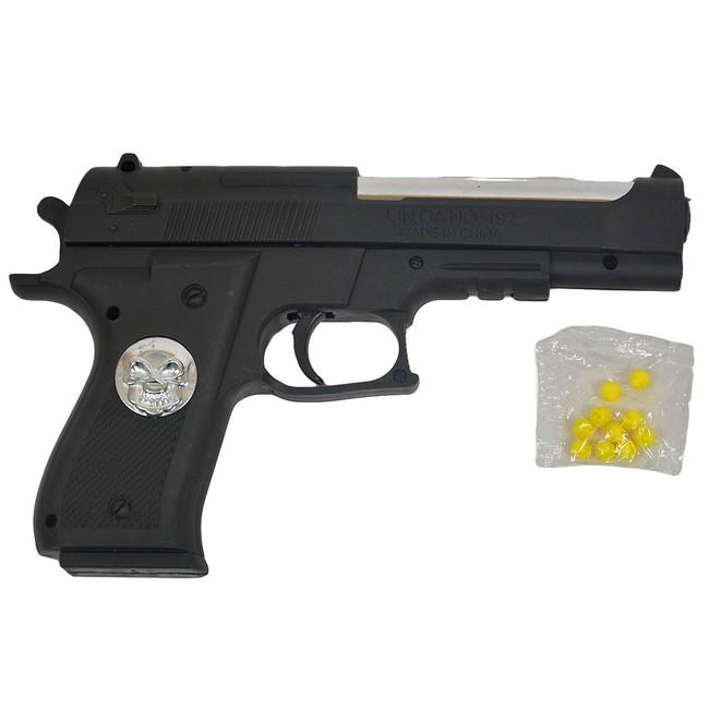Pistole na kulky se znakem smrti