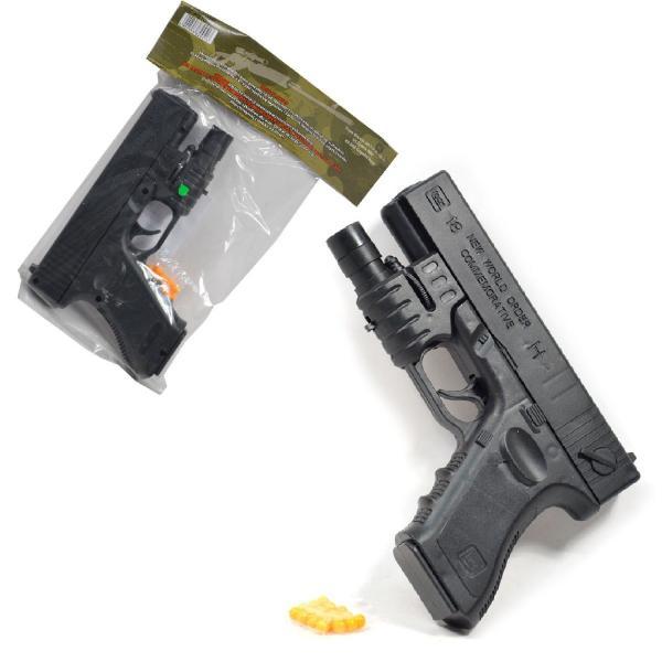 Pistole na kulky s laserovým zaměřovačem 18 cm