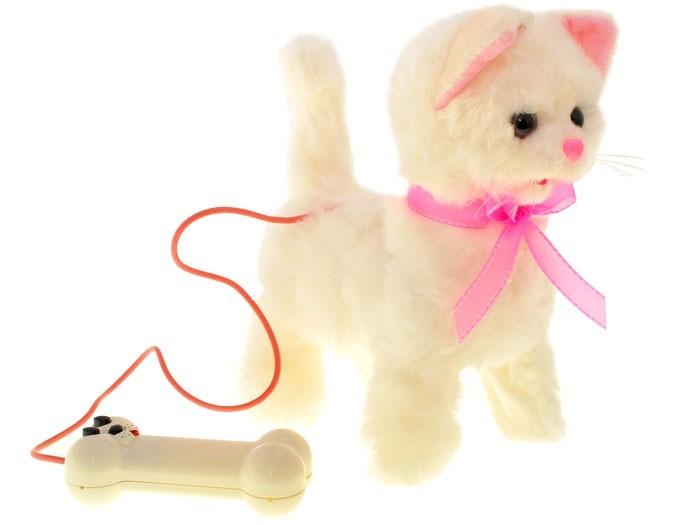 Plyšová chodící kočka