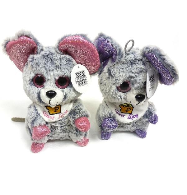 2c3c2de0330 plyšová myška - fialová