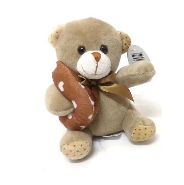Plyšový medvídek 14 cm - světlehnedá