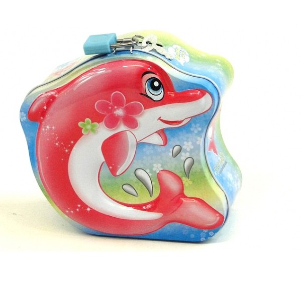 Pokladnička delfín - červená